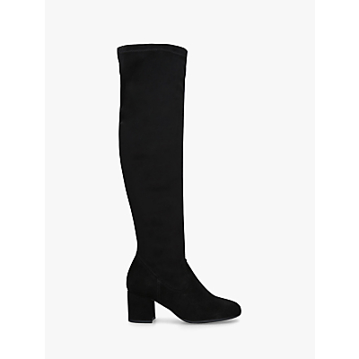 Carvela Comfort Volt Knee High Boots, Black Suede