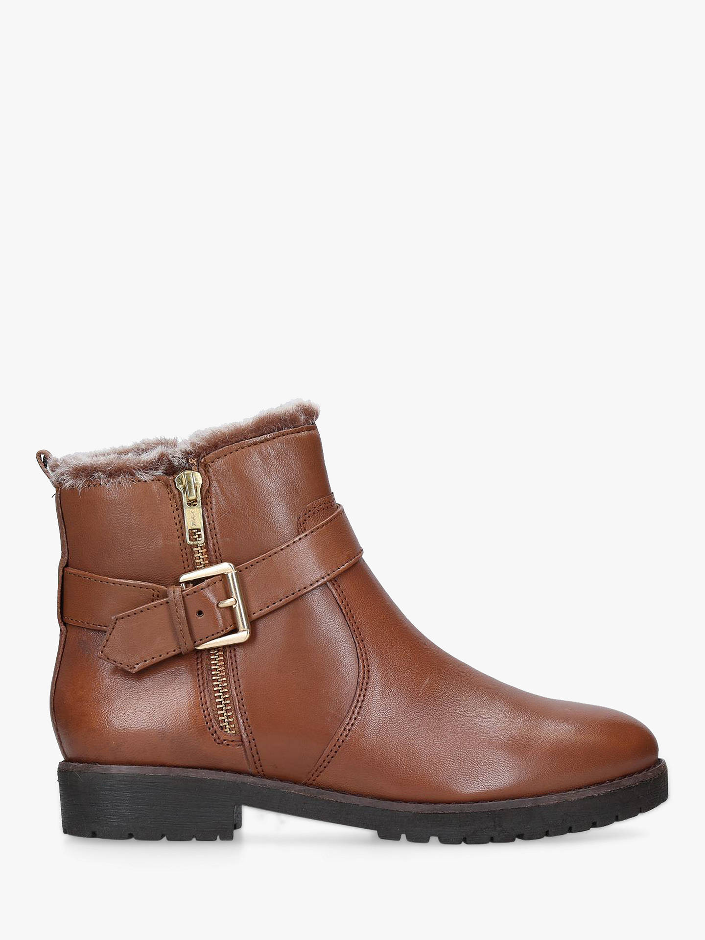 9fbb8ad2923 Carvela Scout Buckle Ankle Boots, Tan Leather at John Lewis & Partners