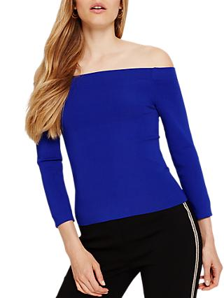 Damsel in a Dress Jura Bardot Knitted Jumper, Cobalt
