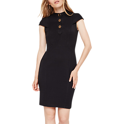 Damsel In A Dress Maddie Button Detail Dress, Black