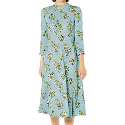 Ghost Lillia Annelise Floral Print Dress, Blue