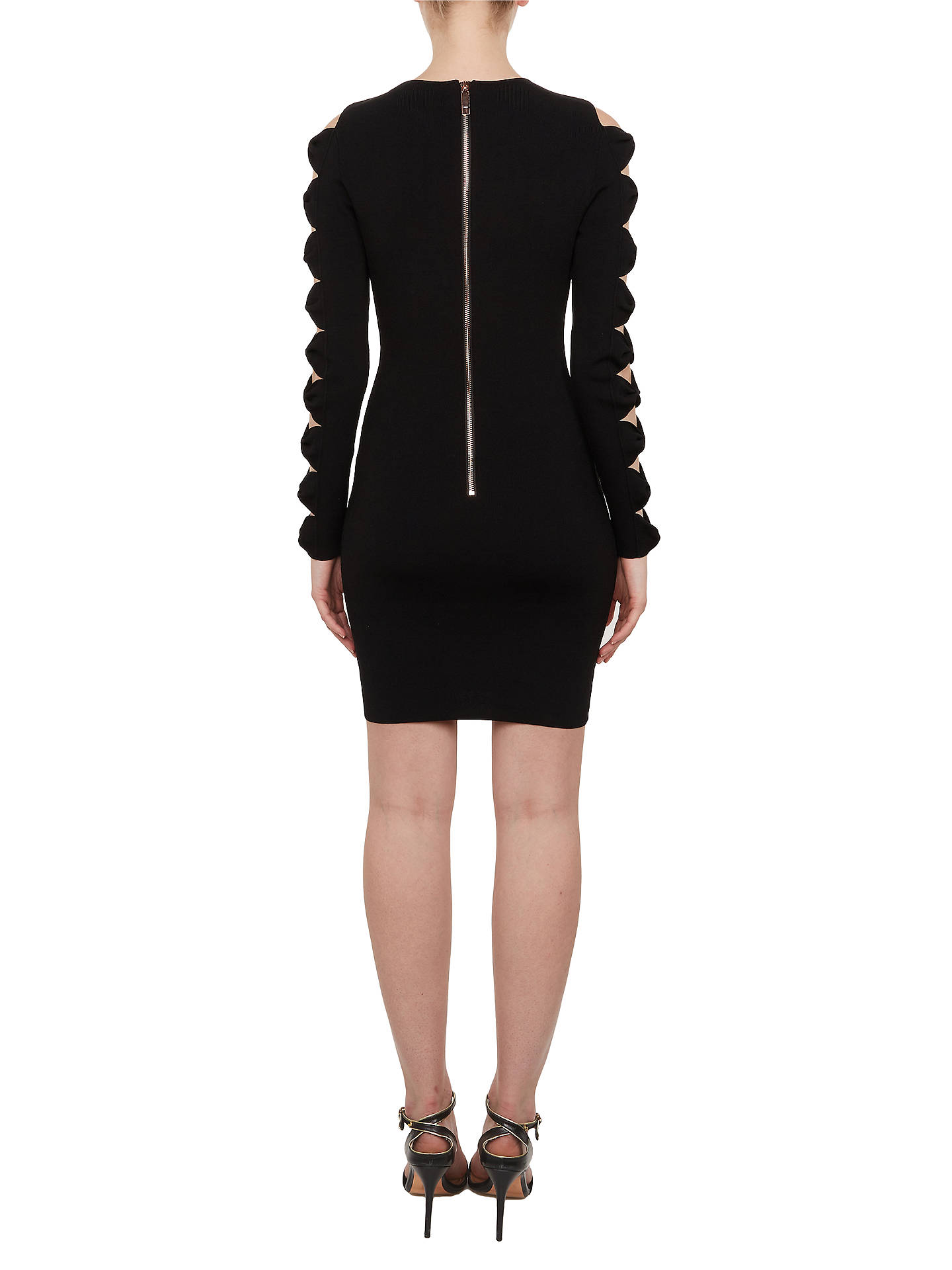 Buy Ted Baker Jayney Knitted Bodycon Dress, Black, 2 Online at johnlewis.com