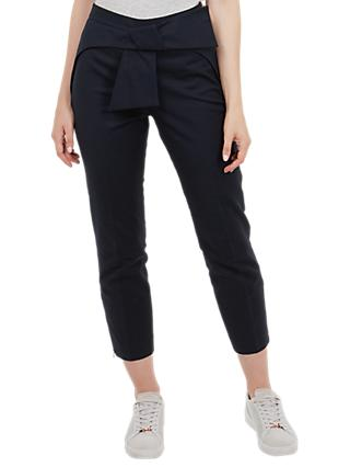 Ted Baker Bow Waist Trousers, Blue Navy