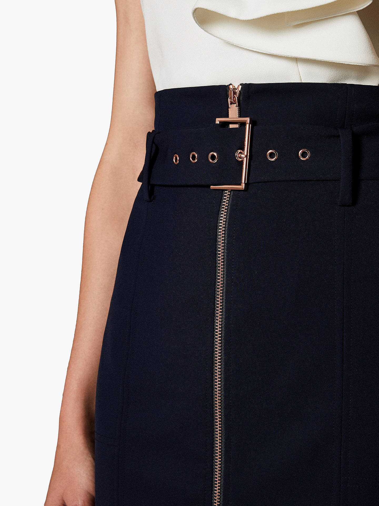 BuyTed Baker Kaara Top Stitch Pencil Skirt, Blue Navy, 1 Online at johnlewis.com