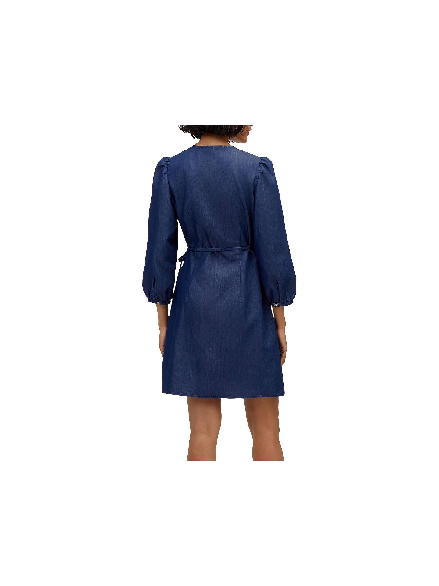 exquisite craftsmanship wholesale online best price Warehouse Denim Wrap Dress, Dark Wash Denim at John Lewis ...