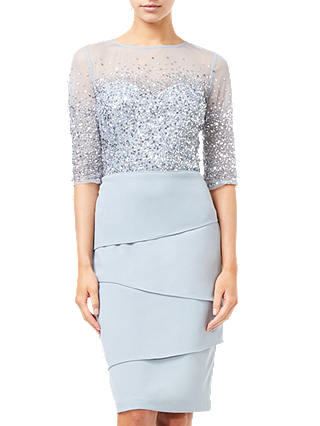 Buy Adrianna Papell Embellished Dress, Blue Heather, 6 Online at johnlewis.com