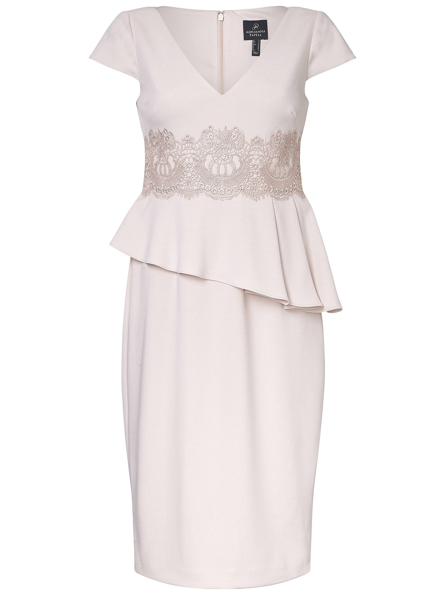 Buy Adrianna Papell Crepe Detail Crepe Dress, Light Blush, 8 Online at johnlewis.com