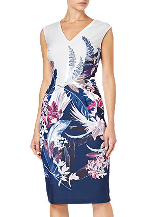 Buy Adrianna Papell Sheath Dress, Multi, 6 Online at johnlewis.com