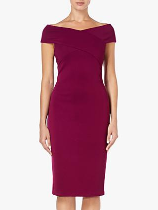 Adrianna Papell Sheath Crossover Dress, Wildberry