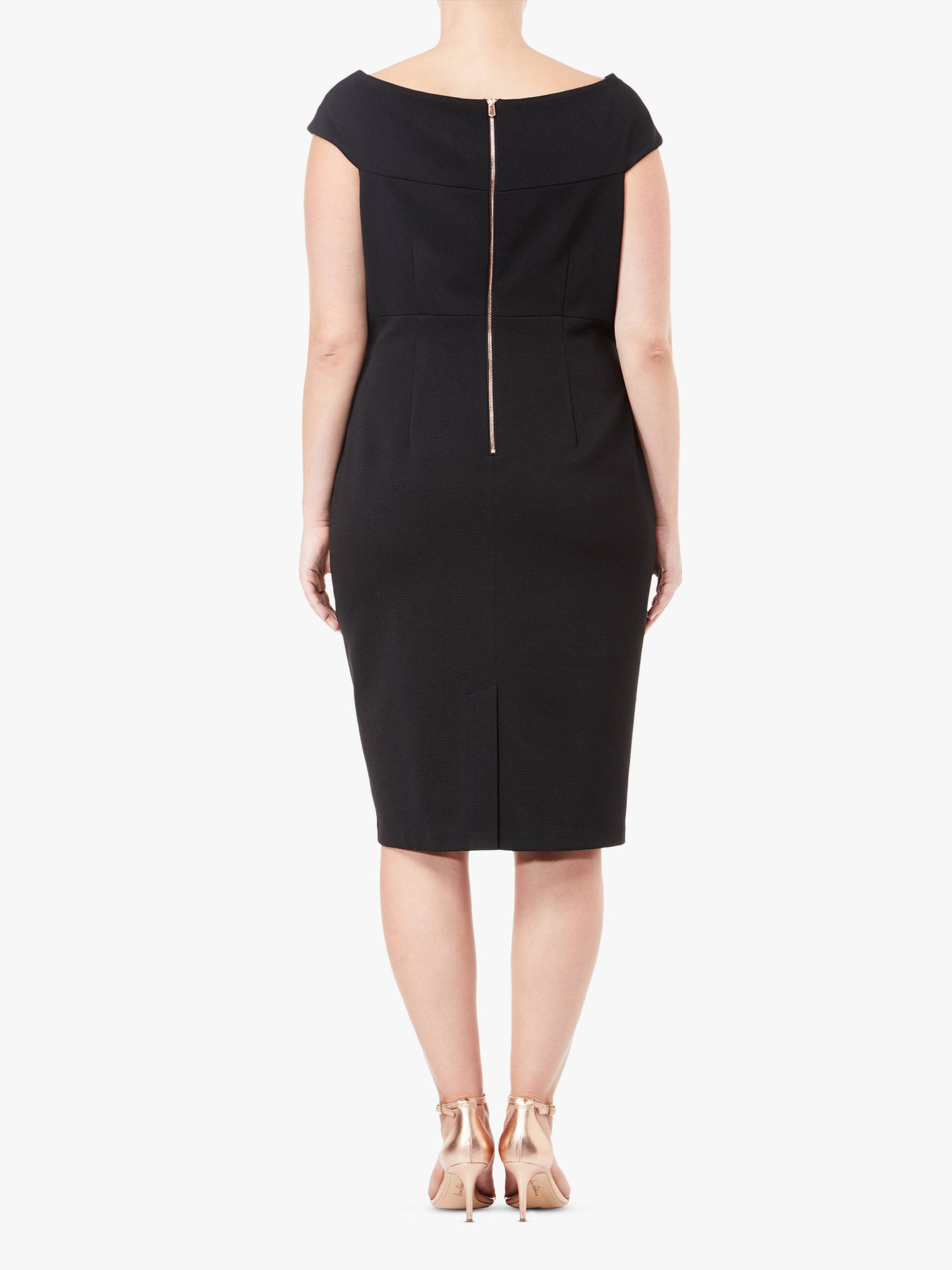 BuyAdrianna Papell Sleeveless Sheath Dress, Black, 6 Online at johnlewis.com