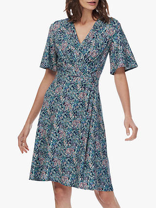 Buy Brora Liberty Wrap Dress, Navy Paisley, 6 Online at johnlewis.com