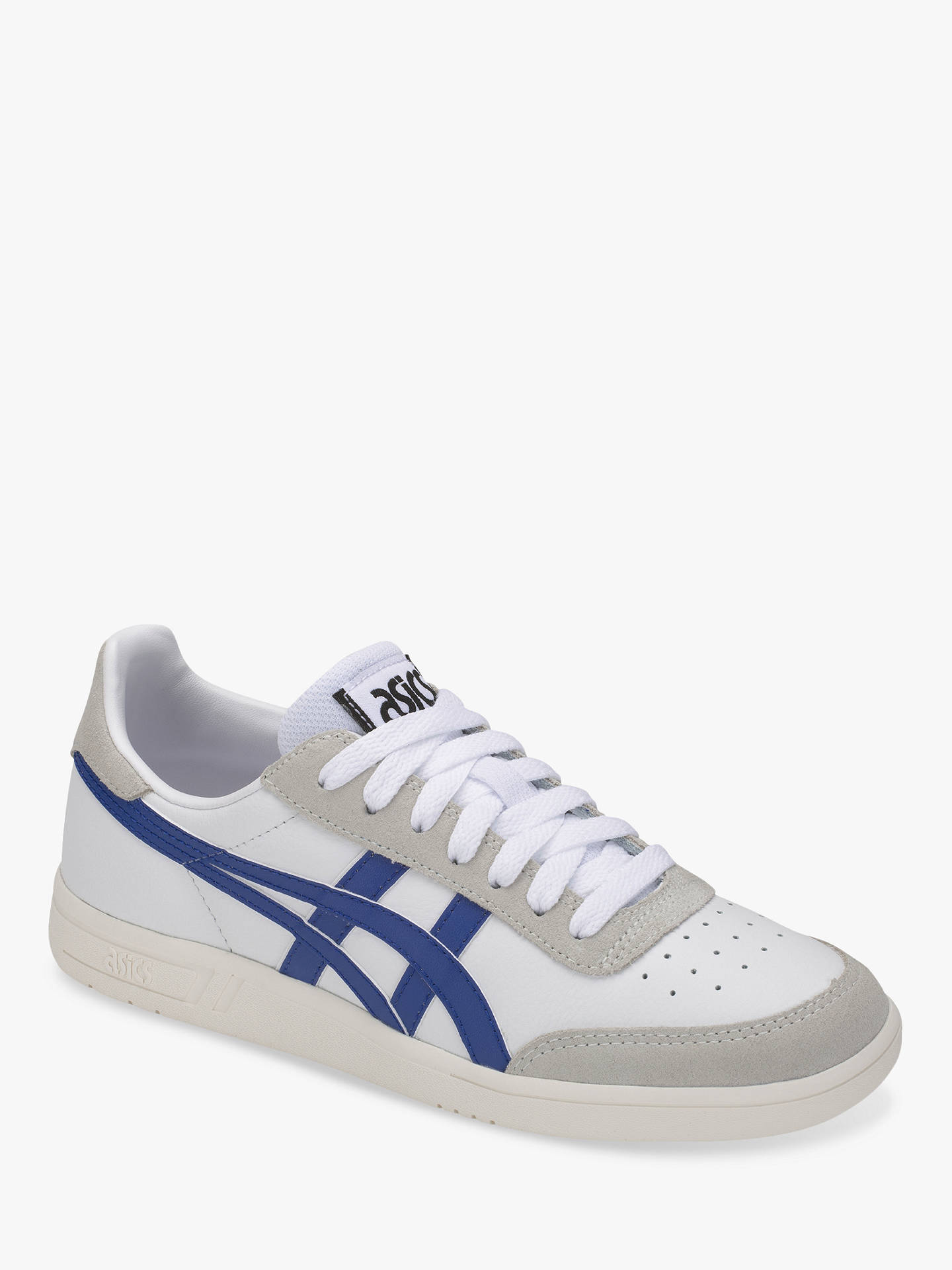 BuyASICSTIGER GEL-VICKKA Trainers, White/Asics Blue, 9 Online at johnlewis.com