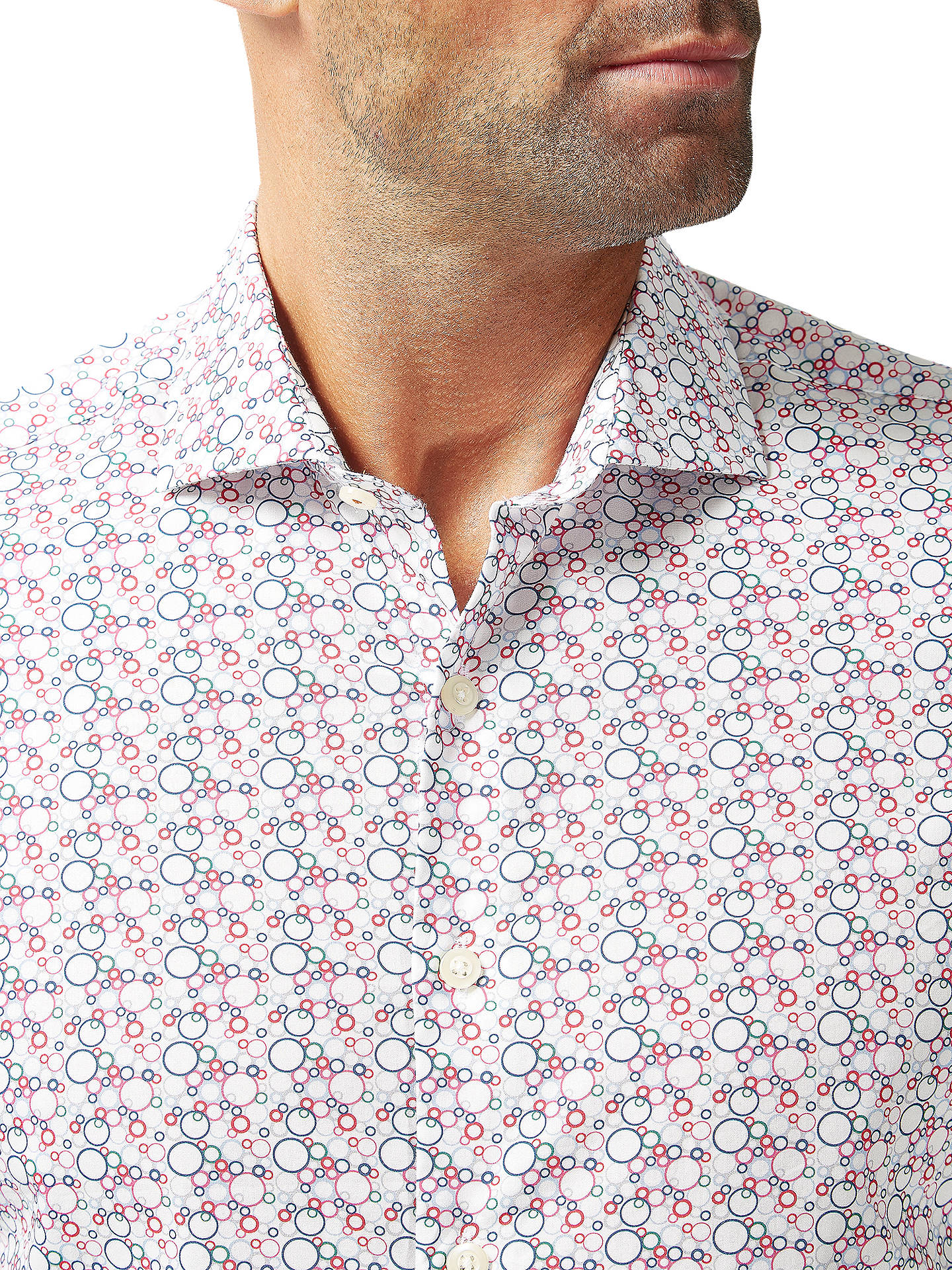 Buy Simon Carter Bubble Print Slim Fit Shirt, White, 17 Online at johnlewis.com
