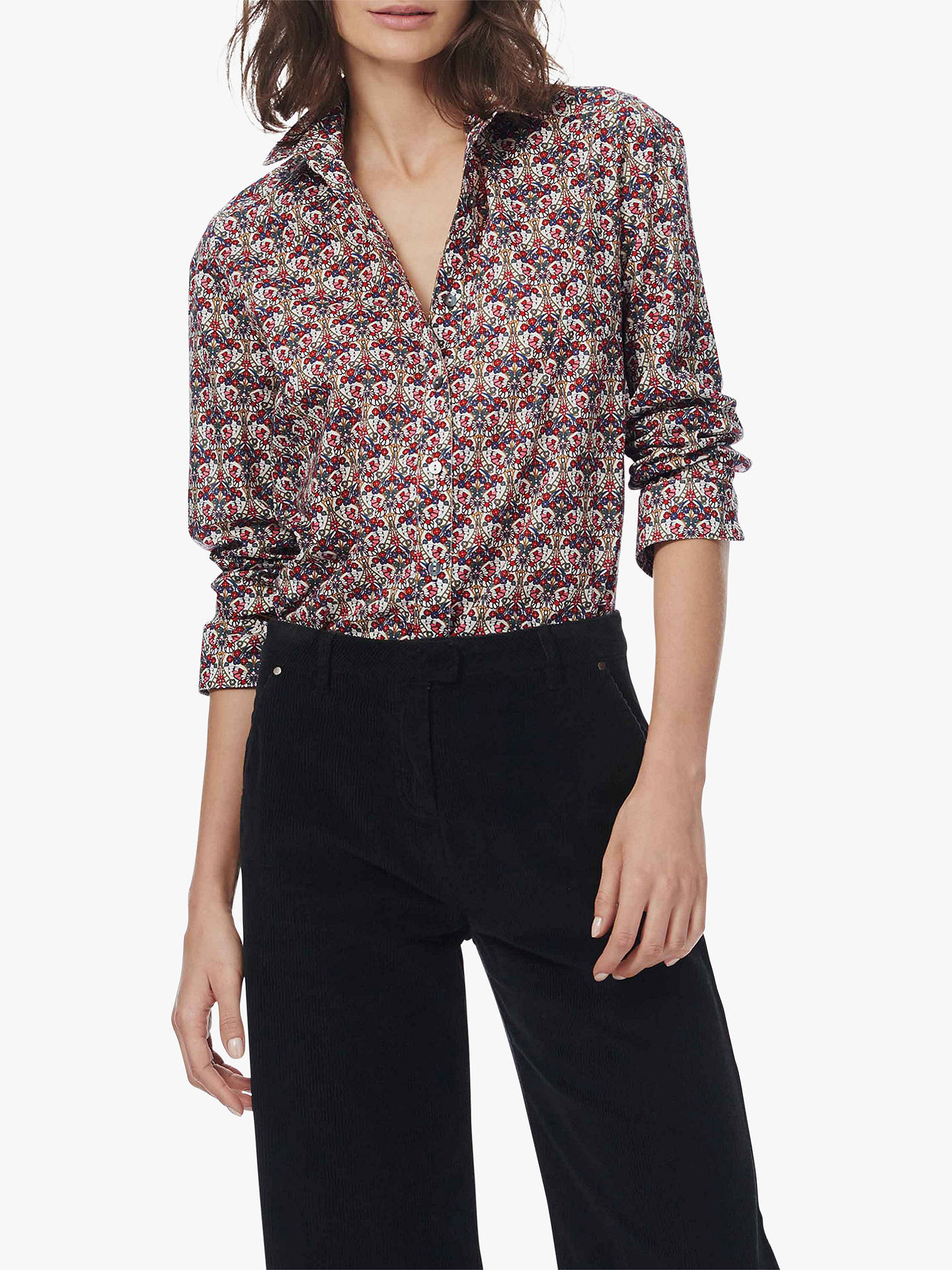 c4b52eede3 Buy Brora Cotton Liberty Lawn Shirt, Fig Butterfly, 6 Online at  johnlewis.com ...