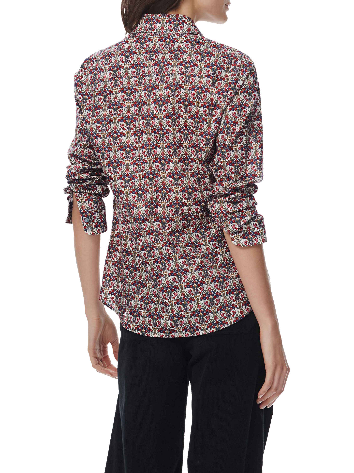 Buy Brora Cotton Liberty Lawn Shirt, Fig Butterfly, 6 Online at johnlewis.com