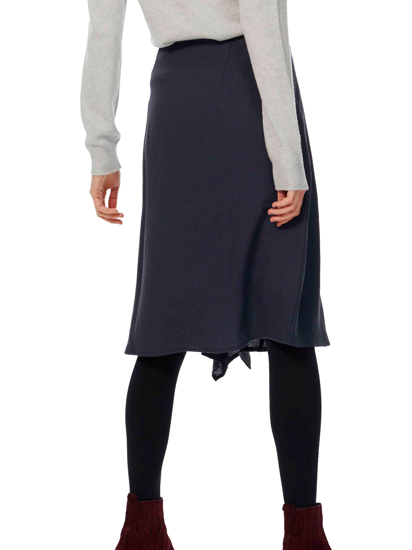 Buy Brora Wool Waterfall Skirt, Ink, 6 Online at johnlewis.com