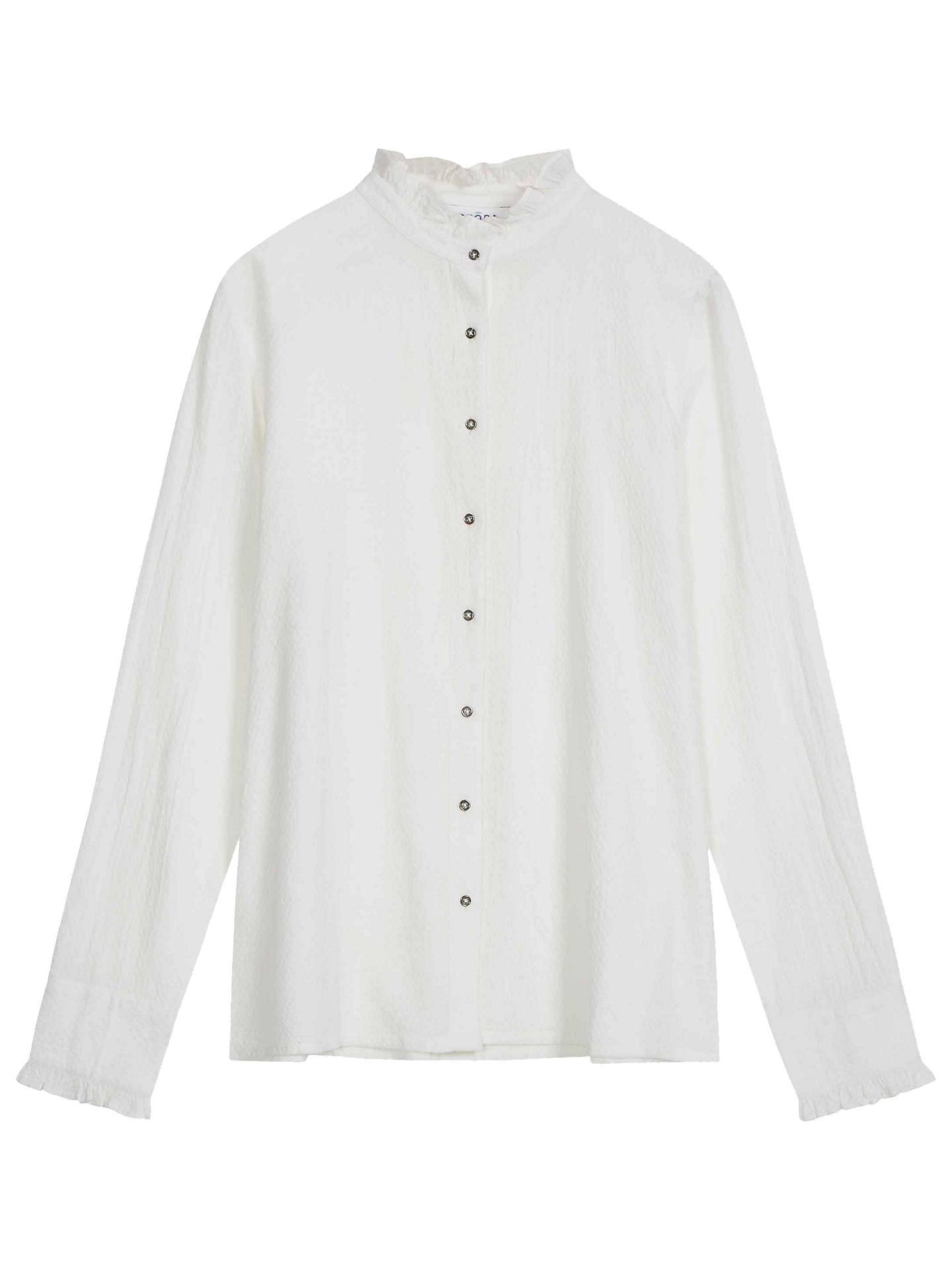 e89c3796e2cba9 ... Buy Brora Textured Cotton Frill Shirt, White, 6 Online at johnlewis.com  ...