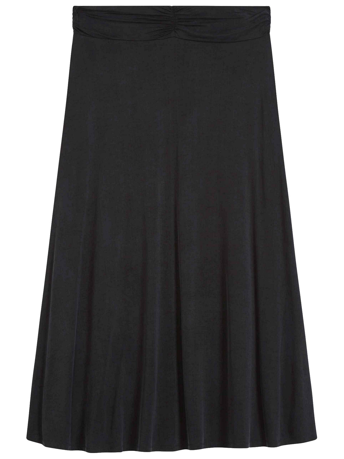 Buy Brora Cupro Flared Midi Skirt, Charcoal, 6 Online at johnlewis.com