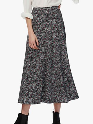 Brora Liberty Jersey Flared Maxi Skirt