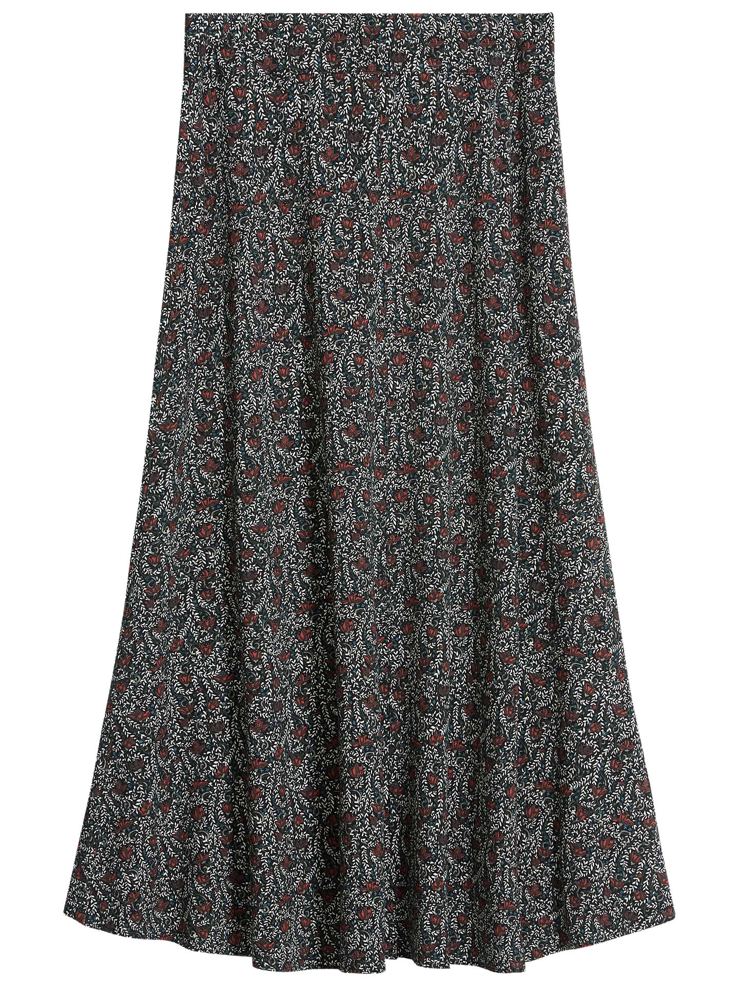 BuyBrora Liberty Jersey Flared Maxi Skirt, Clay Vine, 12 Online at johnlewis.com