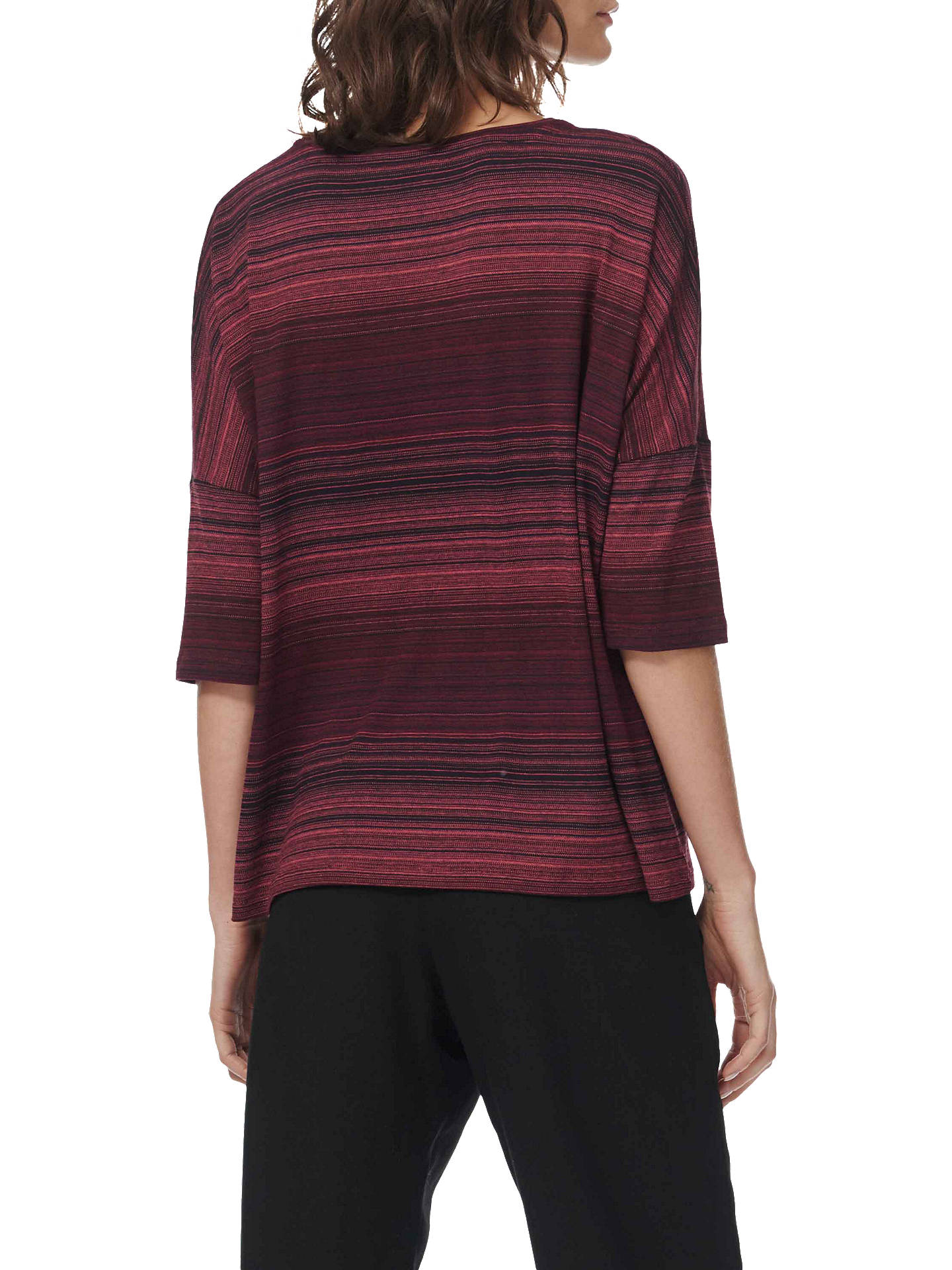 BuyBrora Oversized Fine Stripe T-Shirt, Navy and Port, 8-10 Online at johnlewis.com