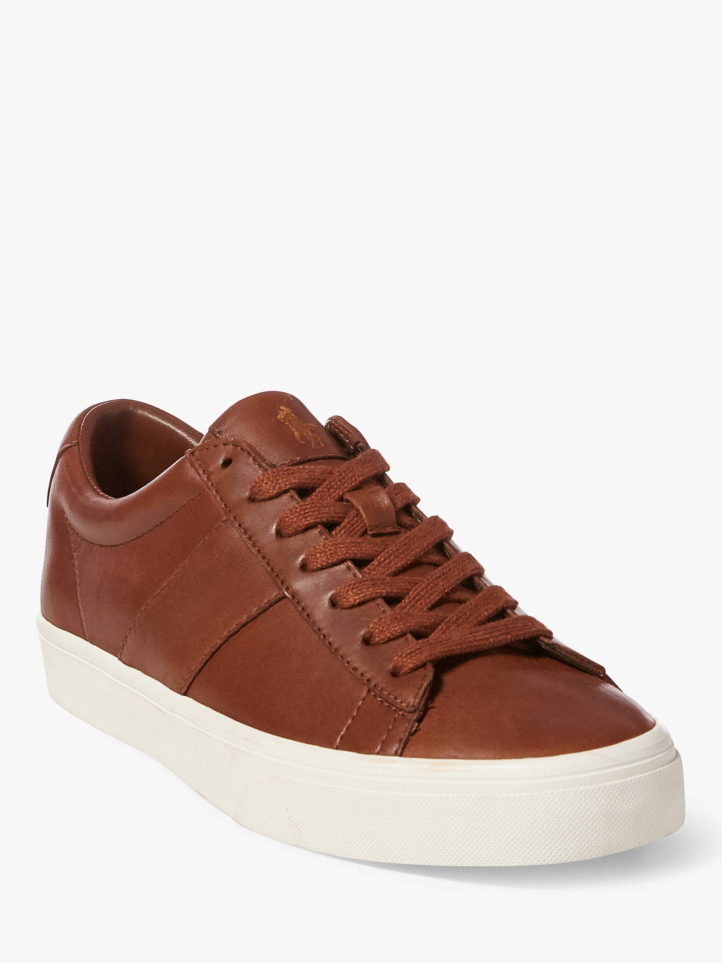 Buy Polo Ralph Lauren Sayer Trainers, Tan, 8 Online at johnlewis.com