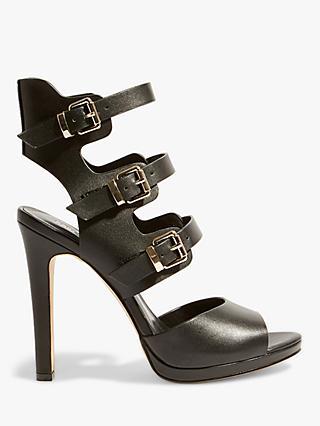 Karen Millen Caged Stiletto Heel Sandals, Black