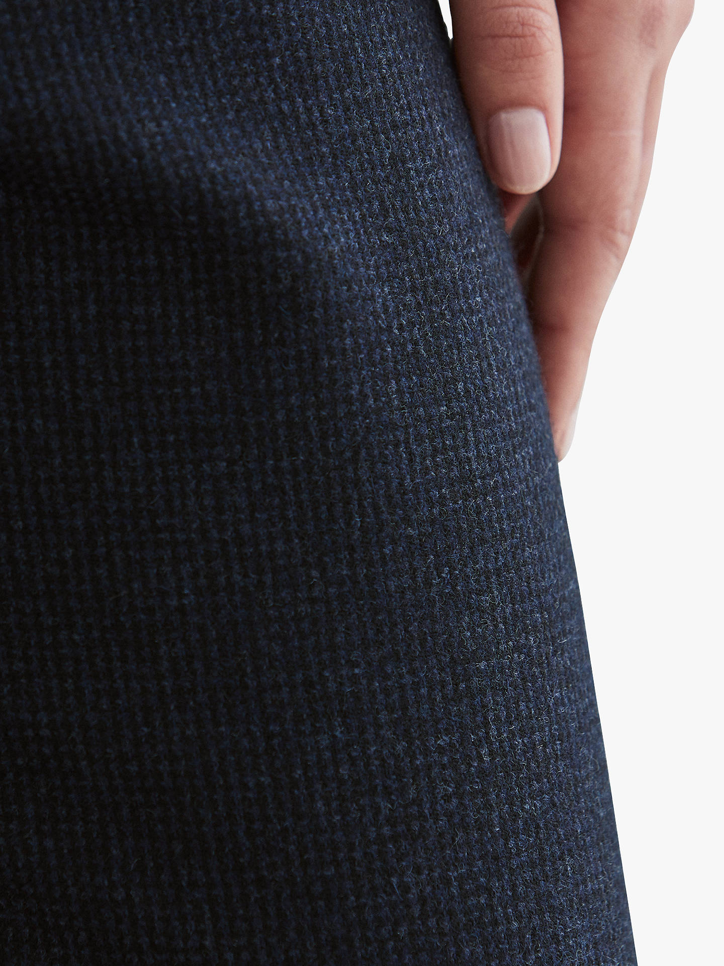 BuyToast Houndstooth Wool Pull On Trouser, Dark Navy, 12 Online at johnlewis.com