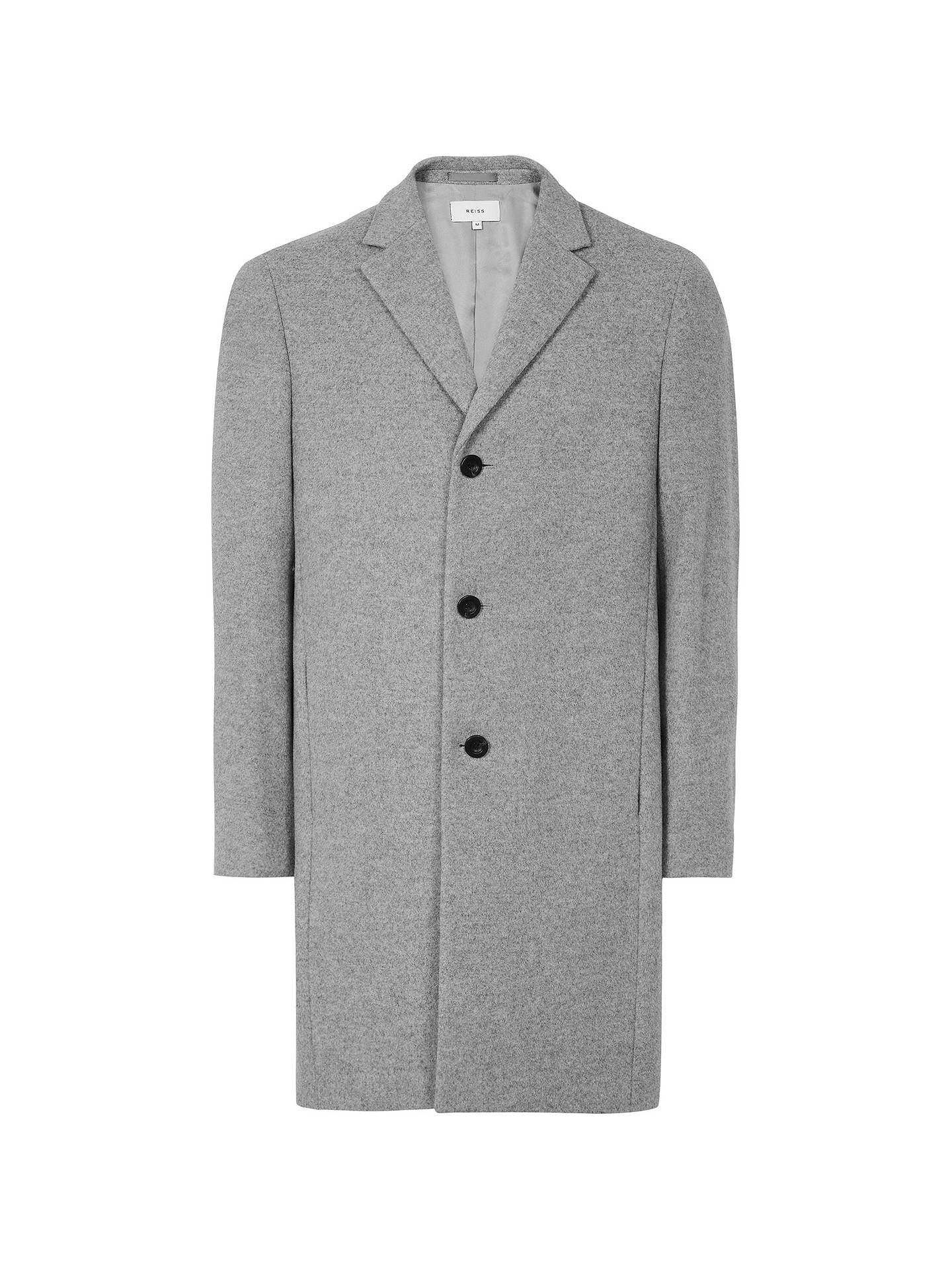 Buy Reiss Gable Wool Epsom Coat, Soft Grey, S Online at johnlewis.com