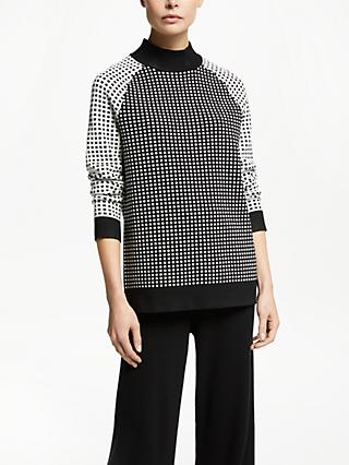 PATTERNITY + John Lewis Squares Funnel Neck Jumper, Multi