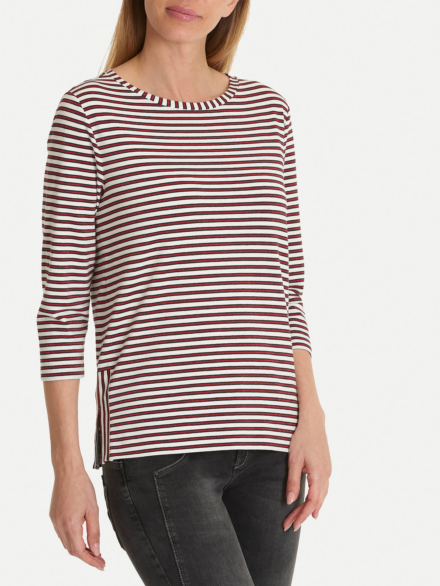 BuyBetty & Co. Striped Jersey Top, White/Red, 10 Online at johnlewis.com