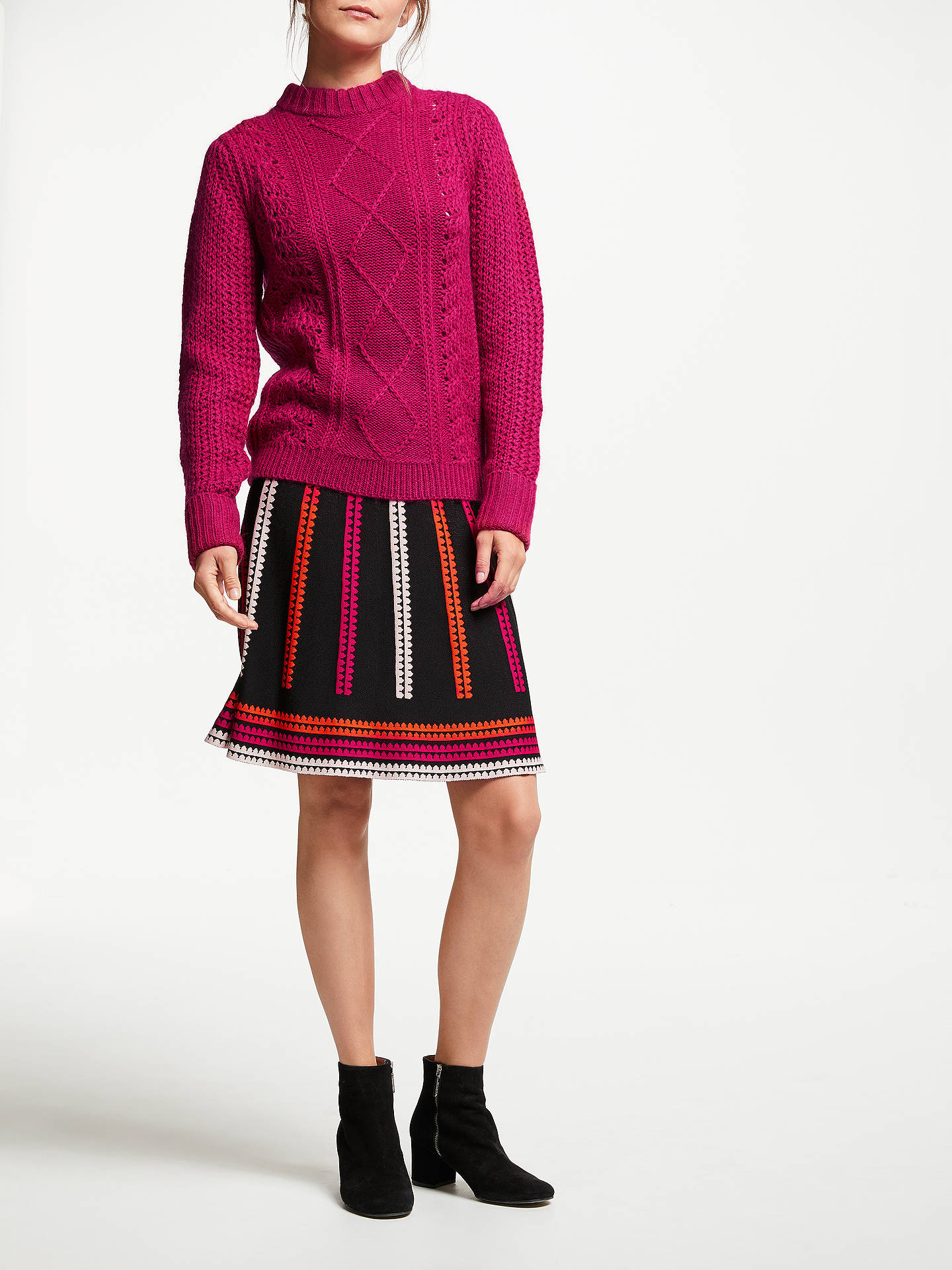 Buy Somerset by Alice Temperley Knitted Skirt, Black/Multi, 10 Online at johnlewis.com