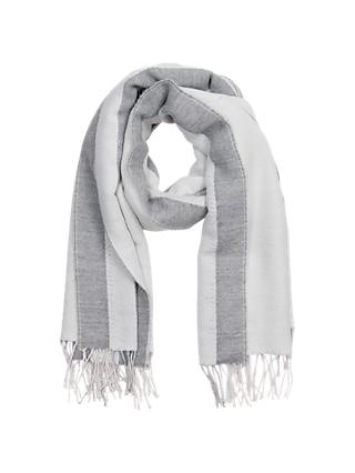 French Connection Clayton Scarf, White/Grey