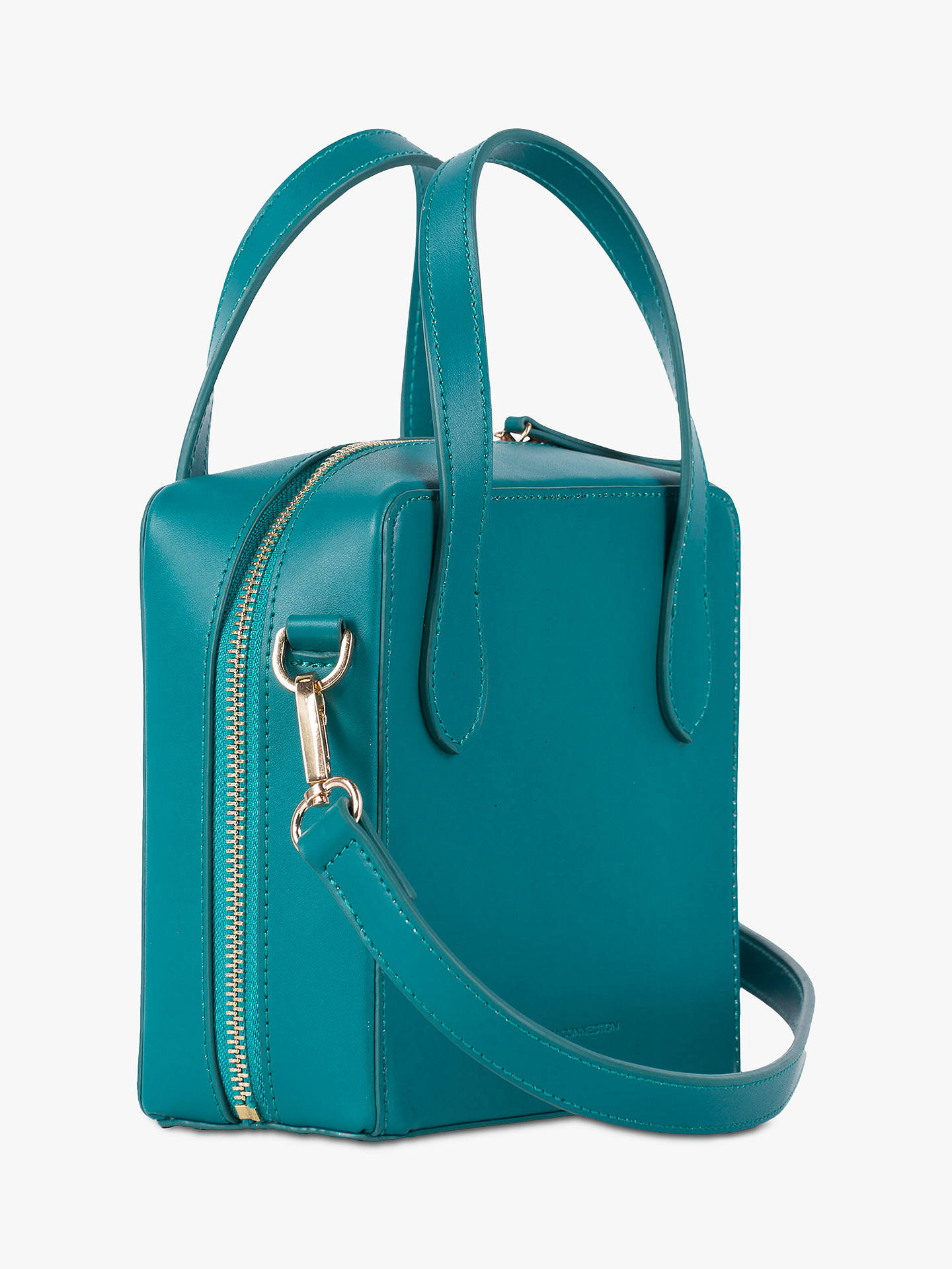 7196a7e0d Buy French Connection Lula Recycled Leather Cross Body Bag, Teal Blast  Online at johnlewis.