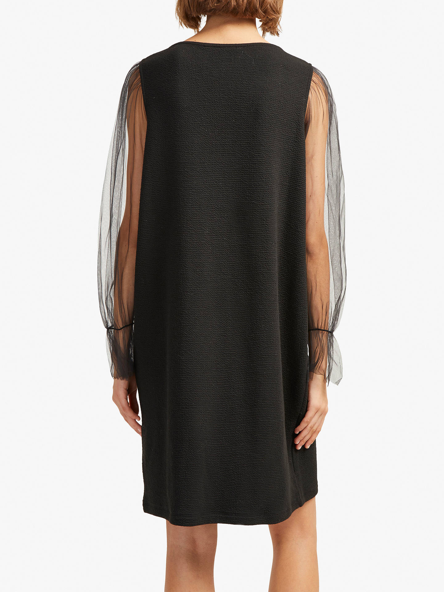 80a9749f6a7 ... Buy French Connection Sheer Jersey Shift Dress, Black, 6 Online at  johnlewis.com ...