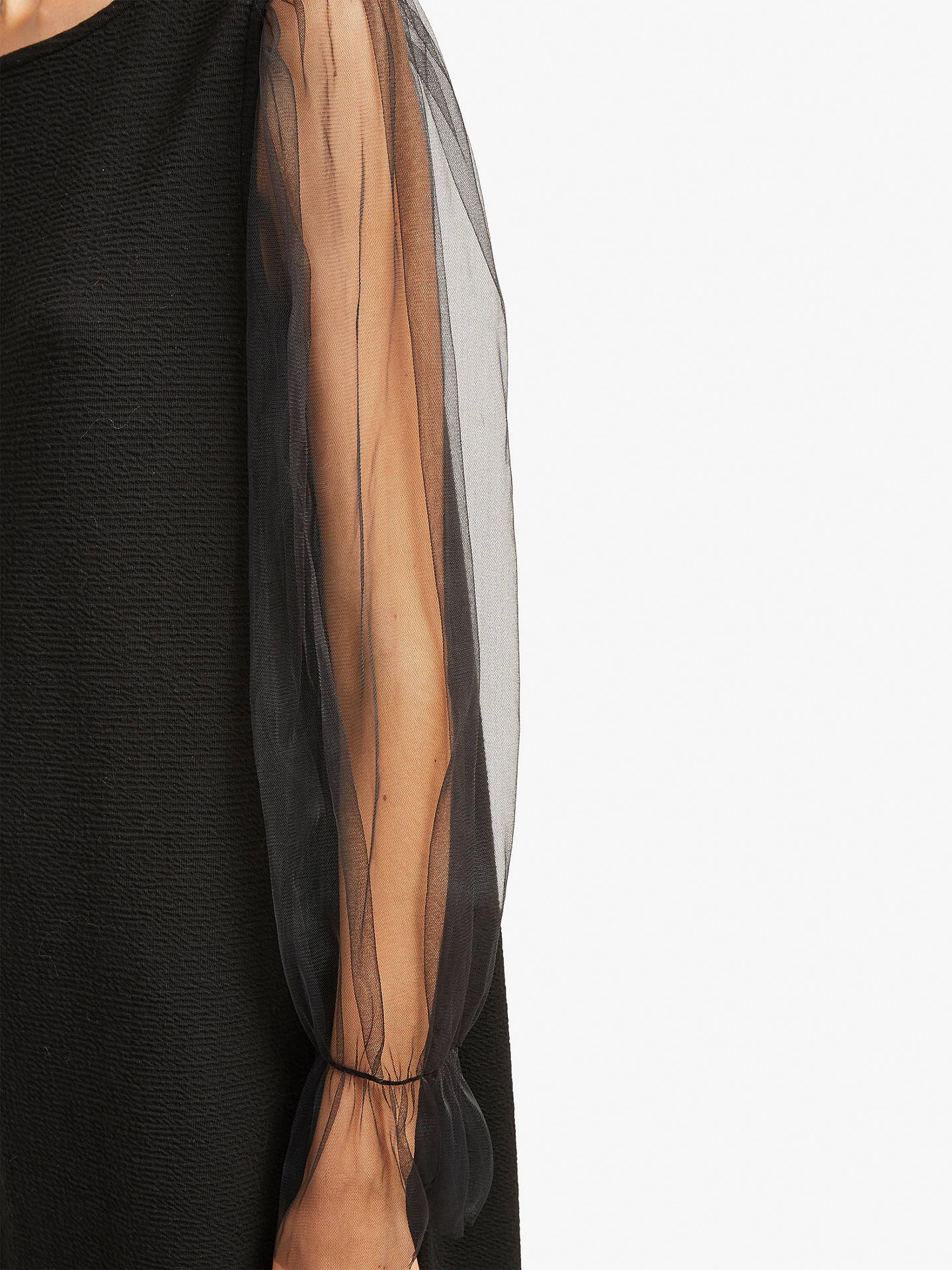 88afb7482ef ... Buy French Connection Sheer Jersey Shift Dress, Black, 6 Online at  johnlewis.com