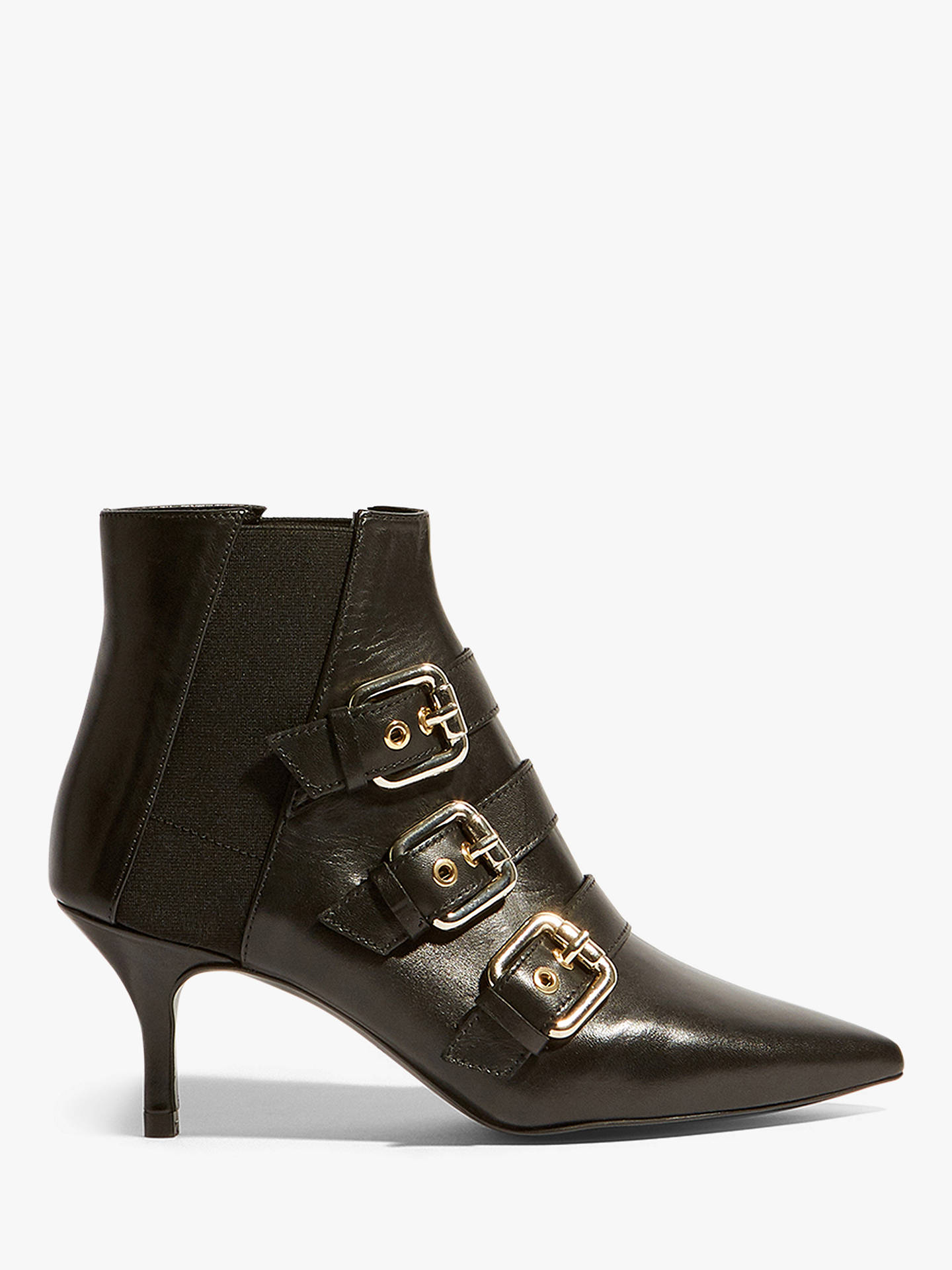 d616878634e519 Buy Karen Millen Buckle Detail Kitten Heel Ankle Boots