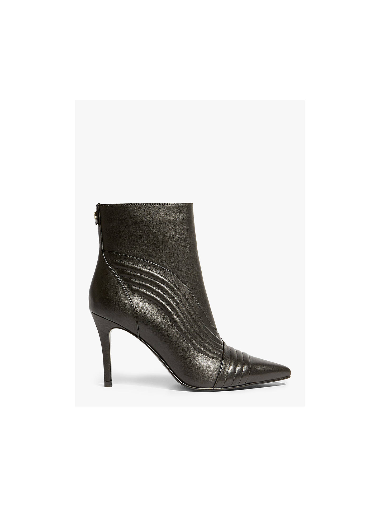 b3a50c8a9790 Buy Karen Millen Ribbed Stiletto Heel Ankle Boots