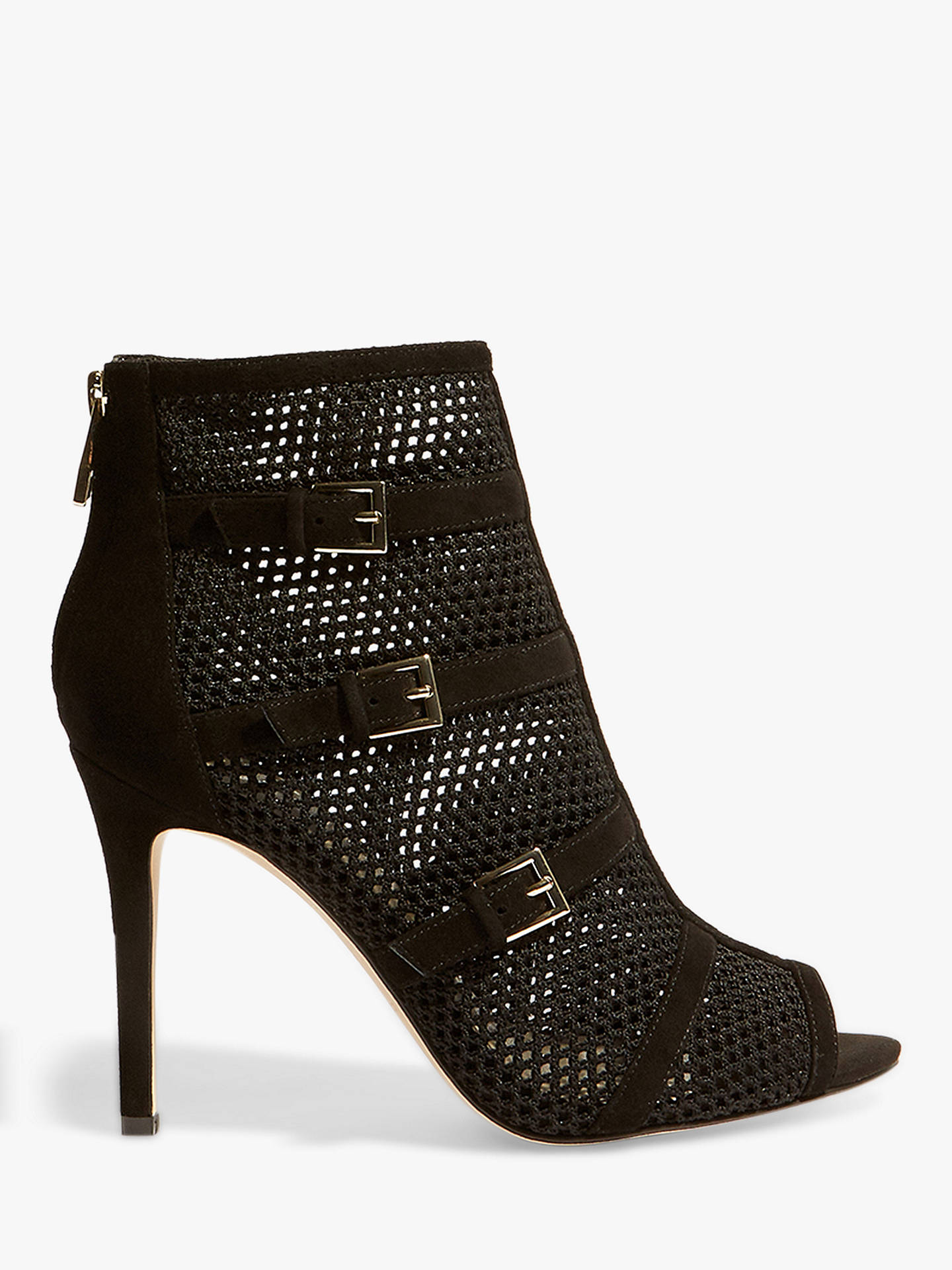 190ea92eee Buy Karen Millen Mesh Cage Stiletto Shoe Boots, Black, 3 Online at  johnlewis.
