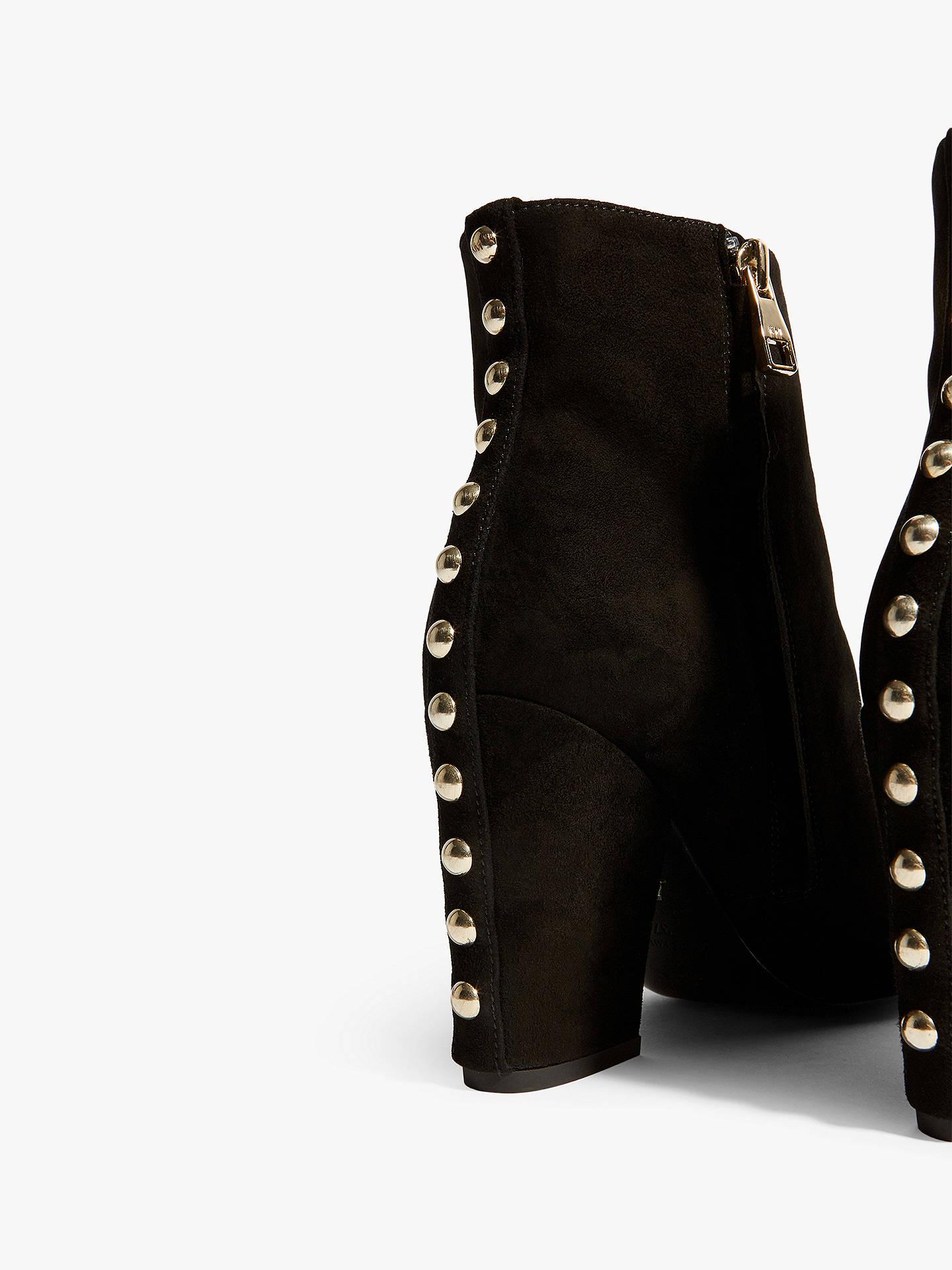 f46c1d19b29 Karen Millen Studded Block Heel Ankle Boots, Black Leather