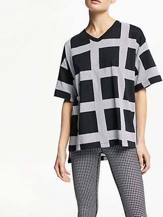 PATTERNITY + John Lewis Oversized Micro Macro T-Shirt, Black/White