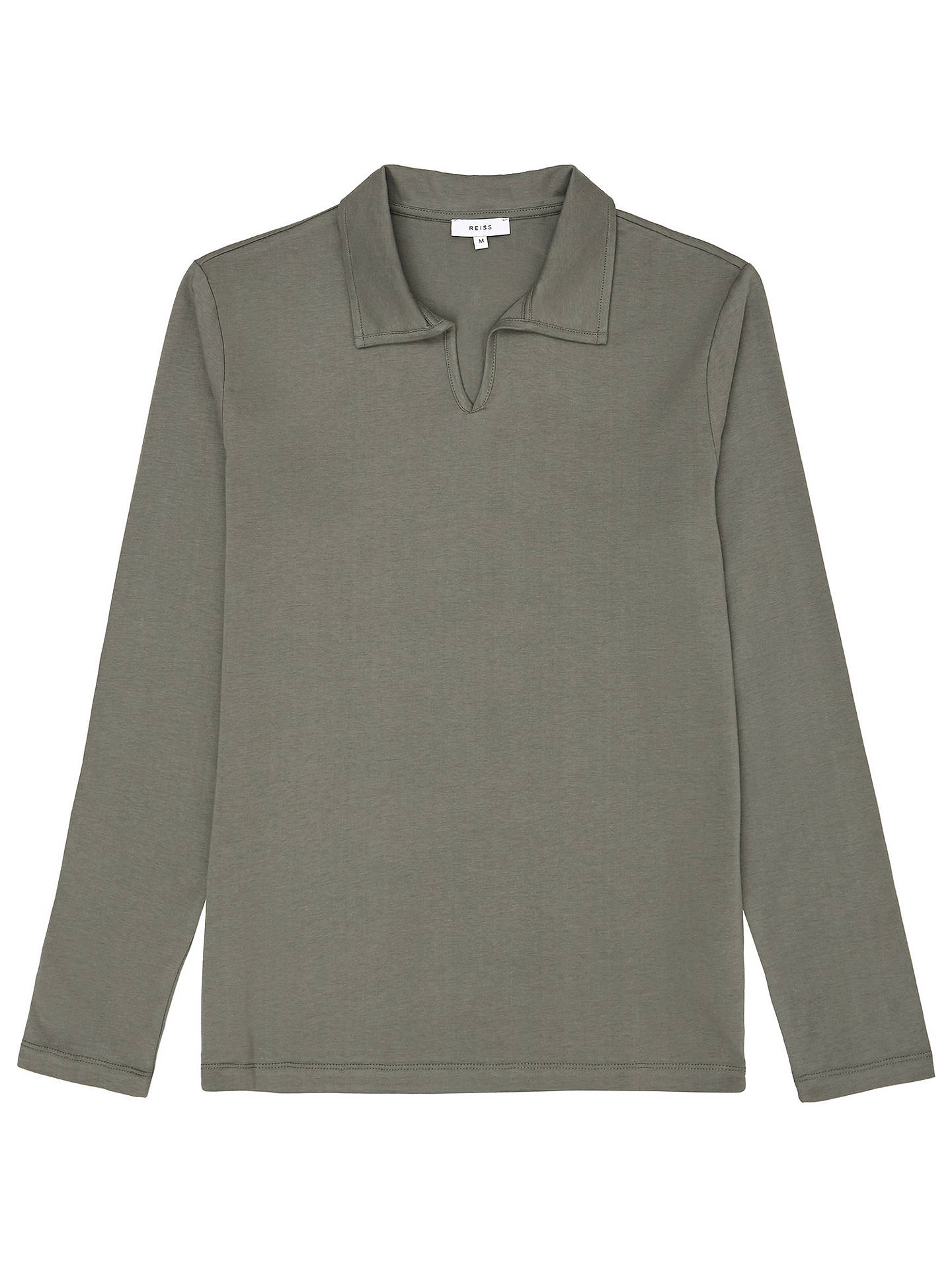 BuyReiss Freckleton Open Neck Polo Shirt, Green, S Online at johnlewis.com