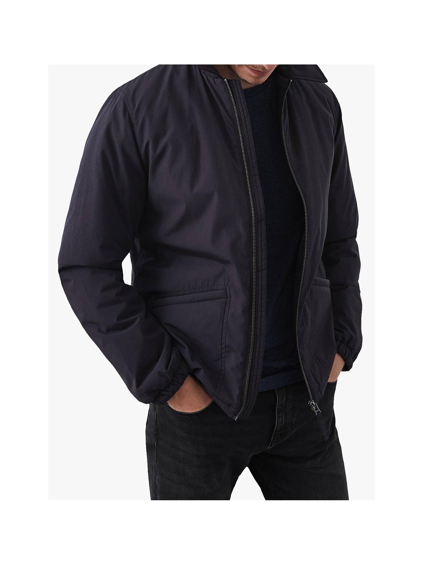 e21bb06af Reiss Herman Wadded Bomber Jacket, Dark Grey at John Lewis & Partners