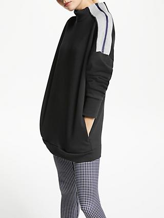 PATTERNITY + John Lewis Funnel Zip Neck Sweatshirt, Black