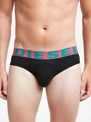 Diesel Andre Briefs, Pack of 3, Black/Multi