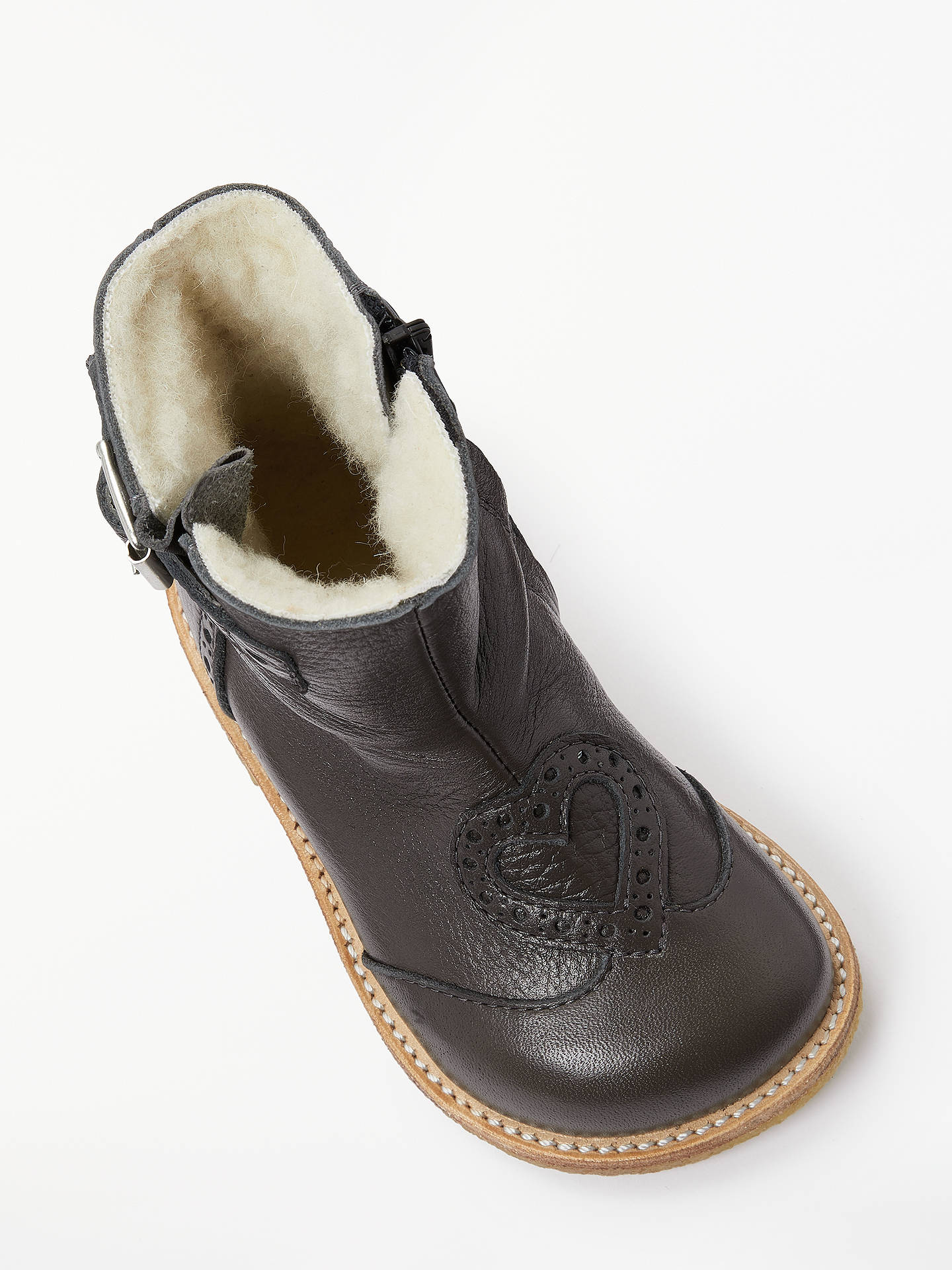 BuyANGULUS Children's Heart Mid Boots, Grey, 28 Online at johnlewis.com