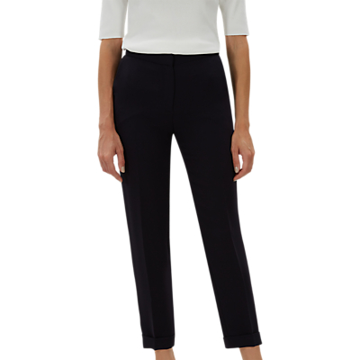 Jaeger Tapered Roll Hem Trousers, Navy
