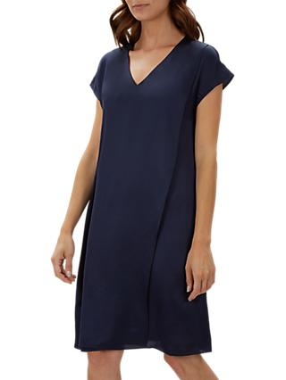 Jaeger Double Layer Dress, Navy