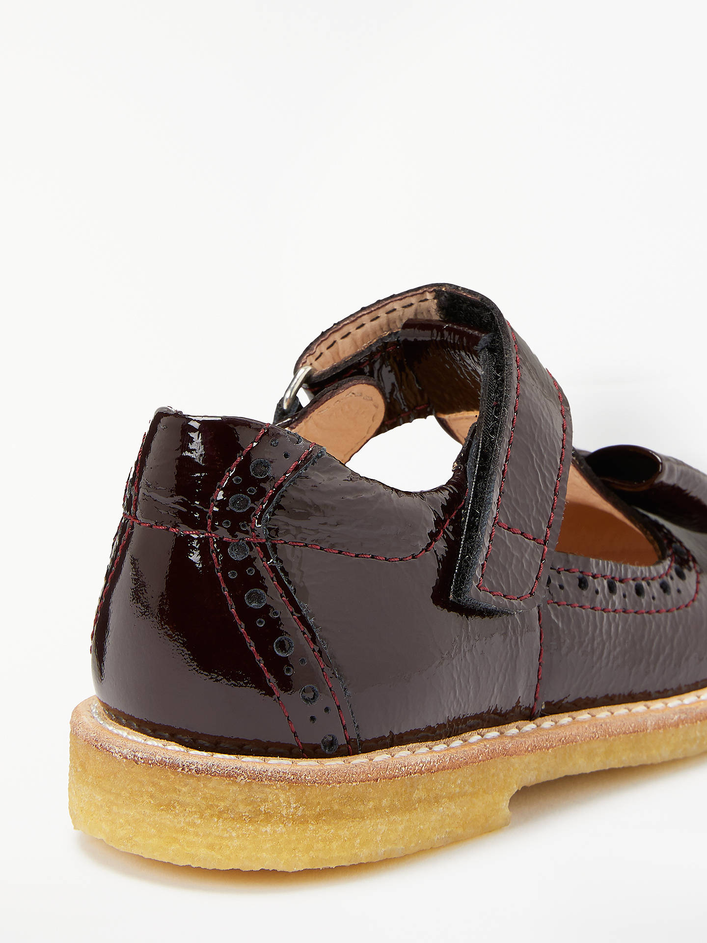 Buy ANGULUS Children's Bow T-Bar Shoes, Burgundy, 30 Online at johnlewis.com