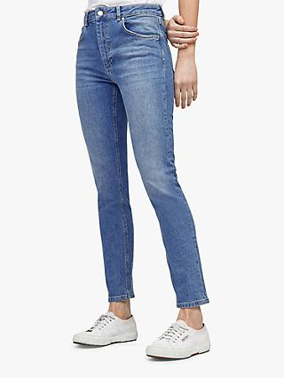 Warehouse Skinny Cut Jeans, Blue Denim